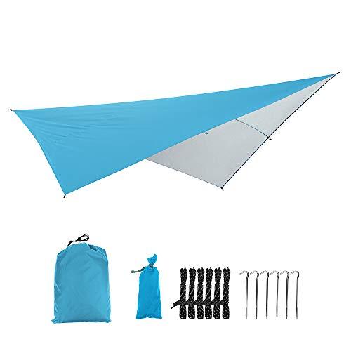 Festnight wasserdichte Rechteck Sonnenschirm Segel Shelter Patio Schatten Tuch UV/Regen Beständig Zelt Hängematte Plane Picknick Matte