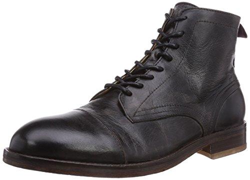 Hudson London Palmer Calf, Herren Kurzschaft Stiefel, Schwarz (Black), 44 EU (10 Herren UK) (London Calf Boots Schwarz)