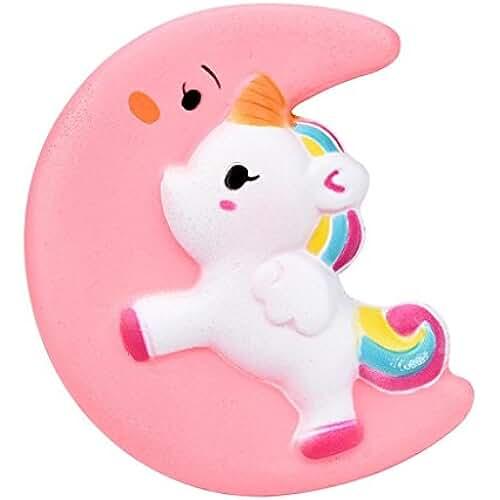squishys juguete, fundido Power Cute Luna Unicornio Squeeze Stress Relief Super Suave lentamente Rising, Soft squishies kawaii de descompresión toy para niños & Adultos San Valentín Regalo