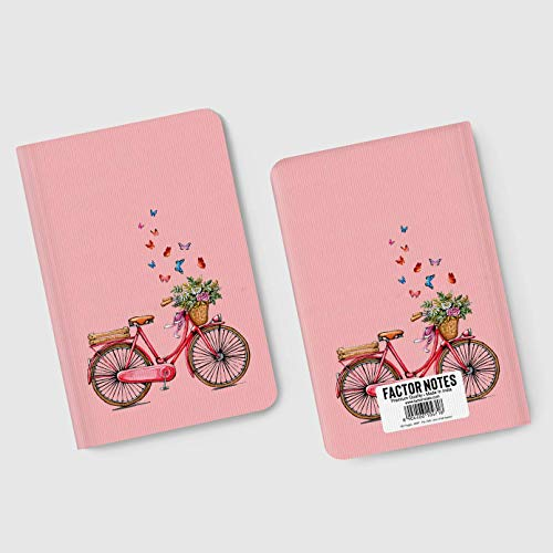 Factor Notes - Cycle (Pink) Ruled B6 Notebook - Premium Stationery, Natural Shade Paper Journal Diary - Size - 120mm X 180mm Image 4