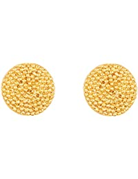 Touchstone Indian Bollywood Majestic Shield Round Shape Bahubali Inspired Designer Jewelry Earrings In Gold Tone...