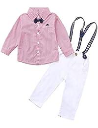 02f5d964f59a1 MCYs 2 pcs bébé garçon Vêtements Définit Bodys et Combinaisons Barboteuse +  Gilet Costume Manteau Gentleman