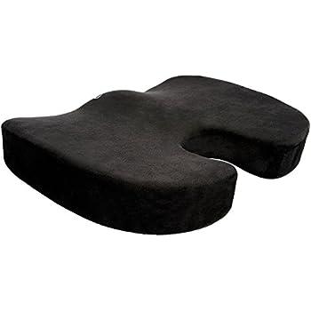 Cush Comfort Rutschfestes Memory-Schaum Sitzkissen - Sitzauflage fördert die Wirbelsäulen Ausrichtung und lindert Rückenschmerzen beim Sitzen