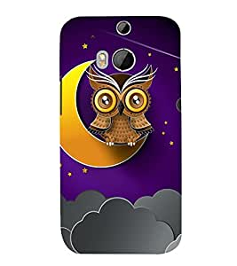 Clipart Owl Wallpaper 3D Hard Polycarbonate Designer Back Case Cover for HTC One M8 :: HTC M8 :: HTC One M 8