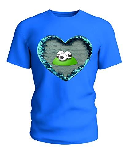 T-Shirt Wende Pailletten Tiere- Baby- Gesicht- Schafe- Herde- SÄUGETIERE- FETT- LUSTIG in Blau | 104-5XL -