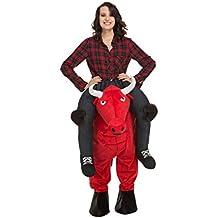 b620c0b032 My Other Me Me-204318 Disfraz Ride-on toro Color rojo M-L Viving Costumes
