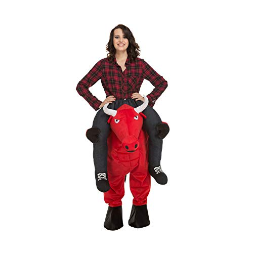 My Other Me Me-204318 Disfraz Ride-on toro, Color rojo, M-L (Viving Costumes 204318