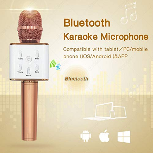Zagmagat Q9 Micgeek Wireless Karaoke Mic KTV Player Condenser with Bluetooth Speaker for iPhone, Android (Multi Color)