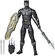 MARVEL Avengers Titan Hero Series Blast Gear Deluxe Black Panther Action Figure, 12-inch Toy, Inspired By Comi