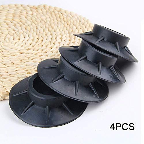 GCDN 4 Teile Anti-Vibration Fußpads für Waschmaschine, Universal Gummi Silent Feet Beläge für Kühlschrank Waschen Maschine Geräte - Wie Abgebildet Show, 4 pcs (Silent Feet-anti-vibration)