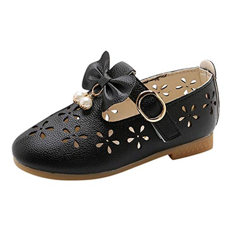 LILIGOD Kinder Schuhe Mädchen Sneakers Beugt Perlen Hohlen Tanzschuhe Einzelne Girl Bowknot Pearl Hollow Dance Single Princess Shoes Children Slippers Strand Beach Water Badeschuhe
