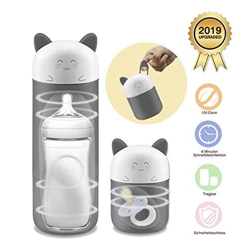 Tragbarer Flaschensterilisator Smart Babyflaschensterilisator mit Ein-Tasten-Bedienung und kompaktem Design Ideal für unterwegs (Baby Ohrhaken)