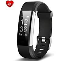 Joyzy Activity Tracker Fit Watch Fitness Watch with Heart Rate Monitor, J2 IP67 Waterproof Pedometer Touch Screen Fitness Tracker Step Counter, Sleep Monitor Smart Wristband Bracelet