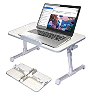 MIA&prit Laptop Bed Tray Table, Adjustable Laptop Table Stand for Bed, Portable Standing Table with Foldable Legs, Foldable Lap Tablet Table Tray for Sofa Couch Floor Eating Writing