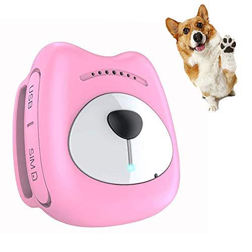 Fxqin inseguitore gps per cani cats impermeabile, localizzatore animali in tempo reale, gamma illimitata e collare geo-fence & anti-lost dogs, ricaricabile (rosa)
