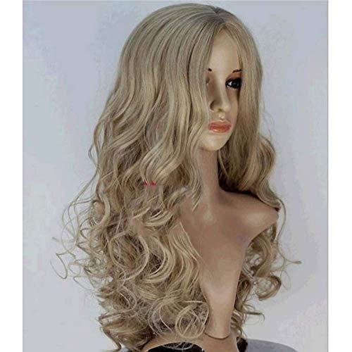 Synthetische Perücke Body Wave Style Monofilament/L Teil/Half Capless Perücke Blonde Blonde Synthetische Haare Schneewittchen Aschenputtel 20 Zoll Frauenmittelteil Blonde Perücke Lang