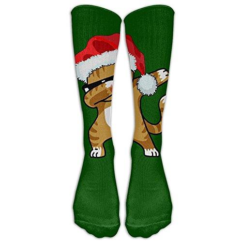Cat Kitten Merry Christmas Athletic Tube Stockings Women Men Classics Knee High Socks Sport Long Sock One Size ()