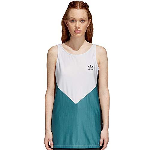 adidas Damen CLRDO Tanktop, White/Tech Green, 38 -