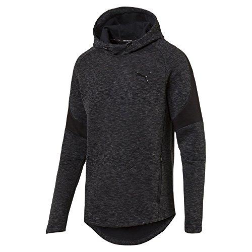 Puma Herren Evostripe Hoody Pullover, Cotton Black, L -