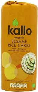 Kallo Organic Wholegrain Sesame Rice Cakes 130 g (Pack of 6)