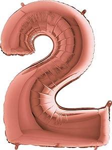 Grabo 232RG-P Número 2 Superloon paquete único, longitud 40 pulgadas, color, oro rosa, talla única