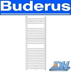 Buderus Badheizkörper DIBAD Handtuch Heizkörper - Heizkörperaufbau: gerade, Bauhöhe: 1145 mm, Baubreite: 535 mm, Anschluss: Standard