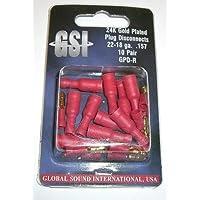 GSI GPDR, enchufes 10x y 10x enchufe redondo, diámetro 4mm rojo, apto para