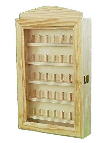 Vitrina colecciones dedales. Para 35 dedales. En madera en crudo, para pintar.