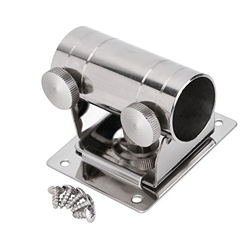 Dilwe Angelschirm, Hochwertig Verstellbar Edelstahl Schirmständer Fix Halterung mit Basis und Schrauben für Angeln Box Stuhl