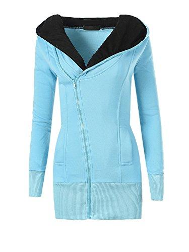 Diva-Jeans - Sweat-shirt - Blouson - Uni - Manches Longues - Femme Türkis