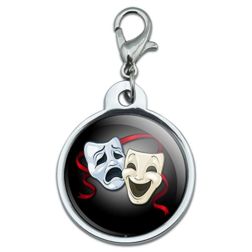 chrome-plated-metal-small-pet-id-dog-cat-tag-places-and-things-drama-comedy-tragedy-masks-theater