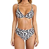 Barlingrock Donne Due Pezzi Costume da Bagno, Serpente Leopard Zebra Stampa Bikini