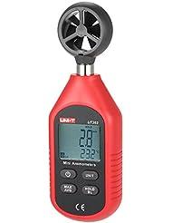 UNI-T ut363pantalla LCD Digital anemómetro velocidad del viento temperatura medición viento escala indicación de sensación térmica con retroiluminación