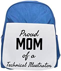 Proud Mom of of of a Technical Illustrator printed kid's Bleu  backpack, Cute backpacks, cute small backpacks, cute Noir  backpack, cool Noir  backpack, fashion backpacks, large fashion backpacks, Noir  fash   Finement Traité  6e582c