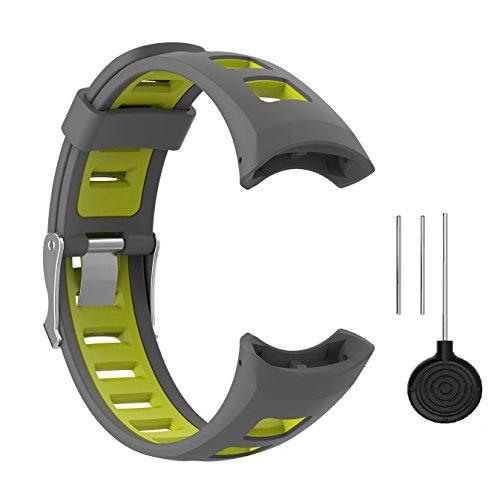 WEINISITE Männer Mode Dual Farbe Silikon Armband für SUUNTO Quest M1 M2 M4 M5 Serie Smart Watch (#1)