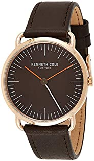 Kenneth Cole Mens CLASSIC with Brown Leather Strap - KC50777003
