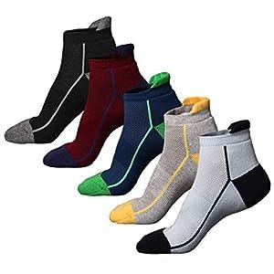 41veIURjuJL. SS300 Calzini da running da 5 paia Calzini da spugna mezza imbottiti per sneaker da uomo e calzini sportivi per la corsa…