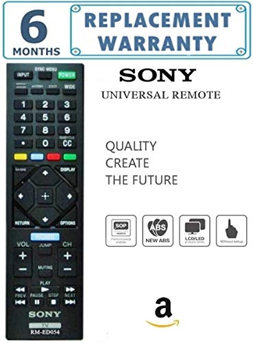 Universal TV Remote for SONY BRAVIA/Led/lcd (Works With All SONY Led/Bravia/Lcd's/ New & Old Models Tv)