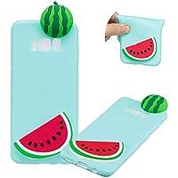 TPU Hülle für Samsung Galaxy S8 Plus,Weich Silikon Hülle für Samsung Galaxy S8 Plus,Moiky Komisch 3D Wassermelone Entwurf Ultra Dünnen Scratch Resistant Soft Rückseite Abdeckung Handyhülle