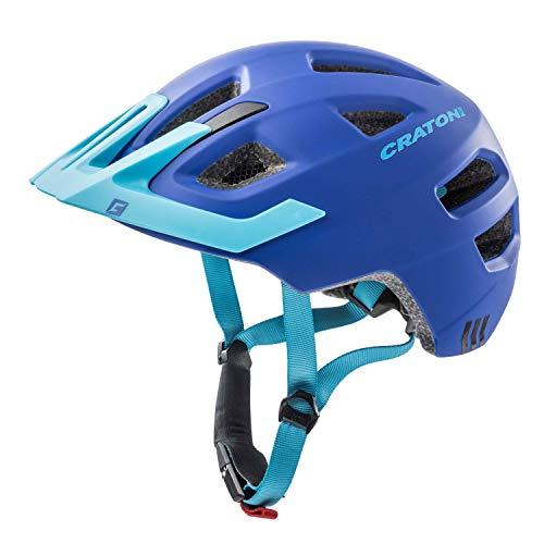 Cratoni Kinderfahrradhelm Maxster Pro, Blue Matt, Gr. XS-S (46-51 cm)