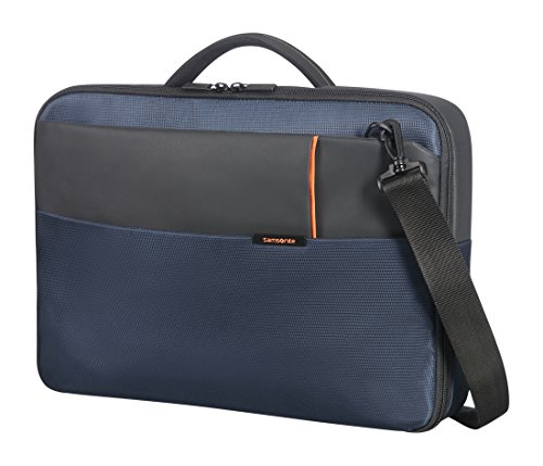 "Samsonite Qibyte Laptop Bag 15.6"" Bolso Bandolera, 9.5 Litros, Color Azul"