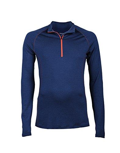 DILLING Exklusives Shirt für Herren aus weicher Merinowolle | Dunkelblau | M