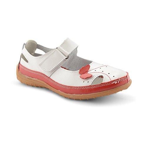 Footwear Sensation , Damen Mokassins Weiß weiß Weiß / Rot