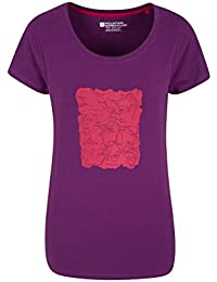 Mountain Warehouse Lakes Womens Tee Easy Care & Quality Print With Lightweight Breathable Fabric - A Casual Must-Have For Spring/Summer
