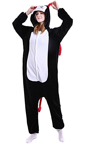 ABYED® Kostüm Jumpsuit Onesie Tier Fasching Karneval Halloween kostüm Erwachsene Unisex Cosplay Schlafanzug- Größe L-für Höhe 164-174CM, Dämon (Dämonen Kostüme)