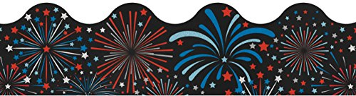 Fireworks Scalloped Borders -