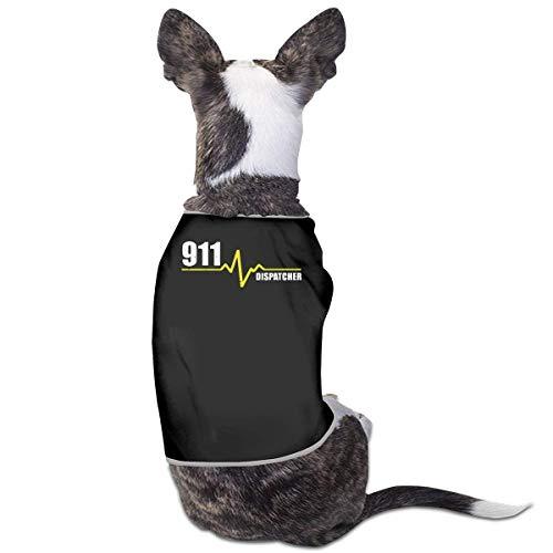 GSEGSEG Hundekleidung, Mantel, Kostüm, Pullover, Weste, 911 Dispatcher Herzschlag Dünn Gold Line Kleine Mantel Hund Katze Weste Haustier ärmelloses T-Shirt
