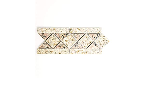 Mosaik Bord/üre Borde Padang Naturstein Sand Rosso beige rose Artikel 850//BT