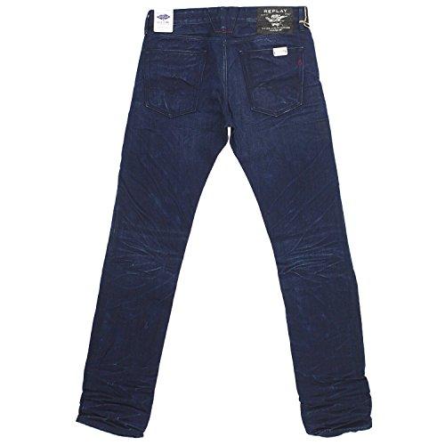 Replay - Jeans - Droit Homme Bleu foncé