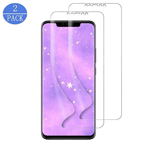 DLundRB [2 stück] Schutzfolie für Huawei Mate 20 Pro, HD Klar 3D [volle Abdeckung] [Nicht auf Glas] [Blasenfreie] [Nass aufgebracht] Flexible Folie